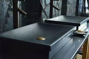 vasque en pierre evier en pierre noire dune shadow With salle de bain design avec acheter evier en pierre