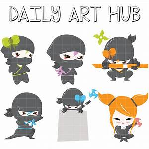 Ninja Warriors Clip Art Set – Daily Art Hub – Free Clip ...