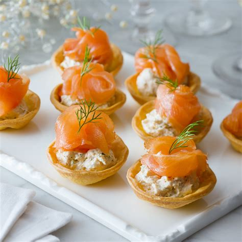 canape creme salmon canapes recipe dishmaps