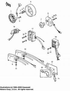 Ignition  Generator  Regulator For 1980 Kawasaki Kz1000