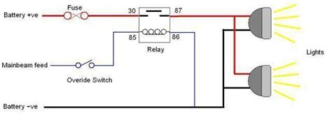 how to wire a relay for road led lights lights
