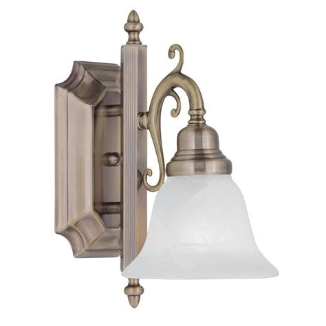 antique kitchen lights livex lighting 1 light antique brass bath light with white 1281