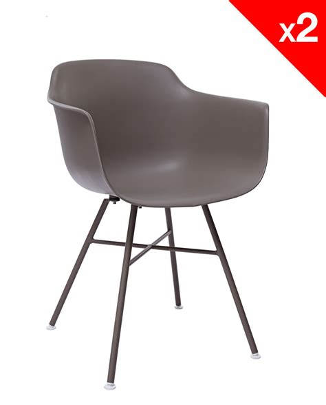 chaises accoudoirs lot de 2 chaises design dsx avec accoudoirs supa