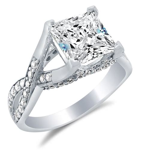best quality cubic zirconia engagement rings wedding and