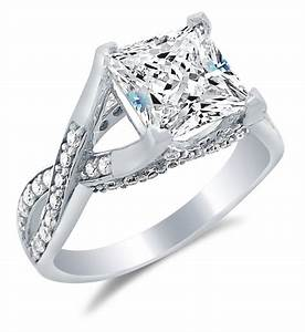 cubic zirconia engagement rings white gold princess cut With princess cut cubic zirconia wedding rings