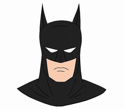 Batman Easy Drawing Draw Face Clipart Head