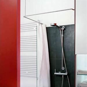 Duschvorhang Befestigung über Eck : duschvorhangstange ber eck als l form von phos design ~ A.2002-acura-tl-radio.info Haus und Dekorationen