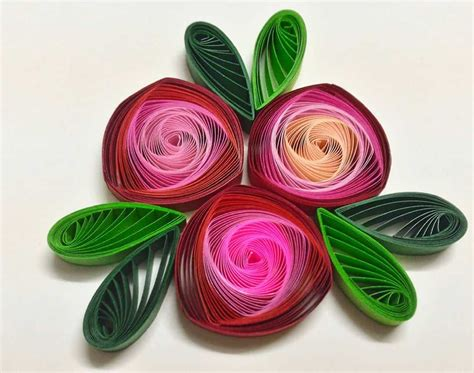 trendy  brilliant  floral paper quilling projects