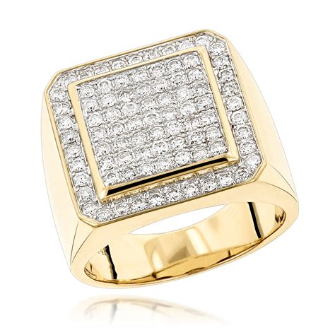 mens engagement ring designer rings mens gold ring by luxurman 1