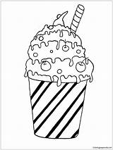 Coloring Pages Milk Cocktail Pancake Sheets Printable Ice Cream Drinks Desserts Adult Housework Sheet Results Categories sketch template