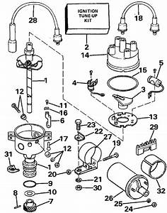 Omc Stern Drive Distributor Parts For 1988 2 3l 232aprgde