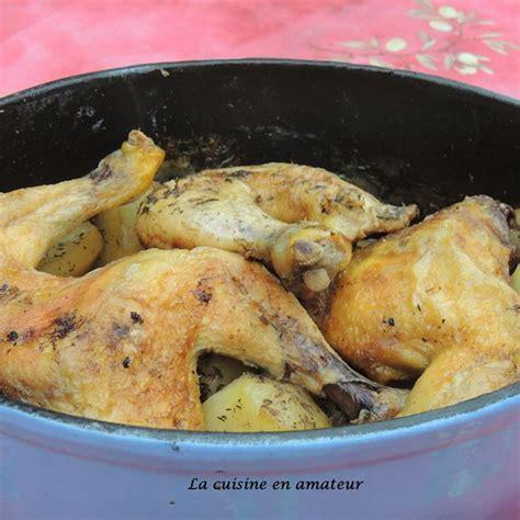 recette poulet et pommes de terre en cocotte