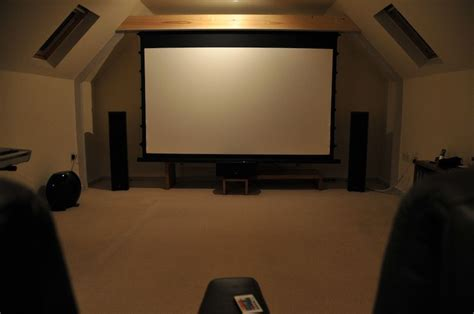 projector screen placement  angled ceiling