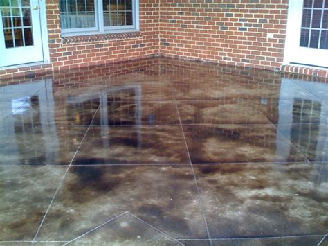 stained concrete patio ideas how do you stain concrete