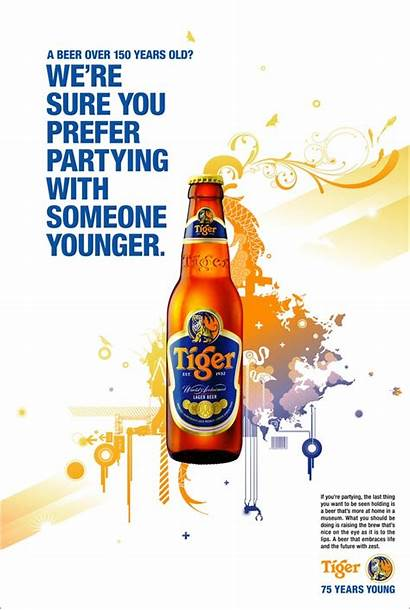 Beer Tiger Poster Ads Posters Singapore Bier