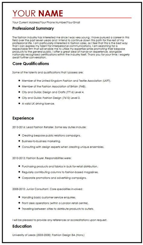 Best Cv Template by Best Cv Sle Myperfectcv