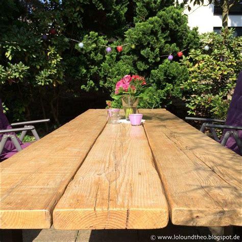 Weihnachtsdeko Auf Dem Gartentisch by Gartentisch Aus Holz Selber Bauen Foto Tischplatte Selber