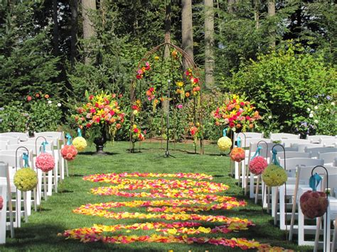 the backyard gardener outdoor garden wedding