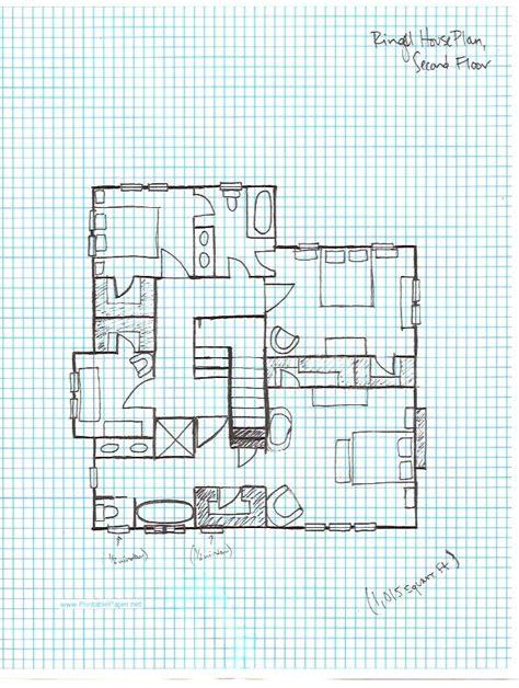 Ringel House Plan, Graph Paper Second Floor  Let's Build