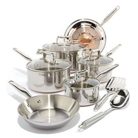 fal csc steel copper bottom set affordable copper cookware