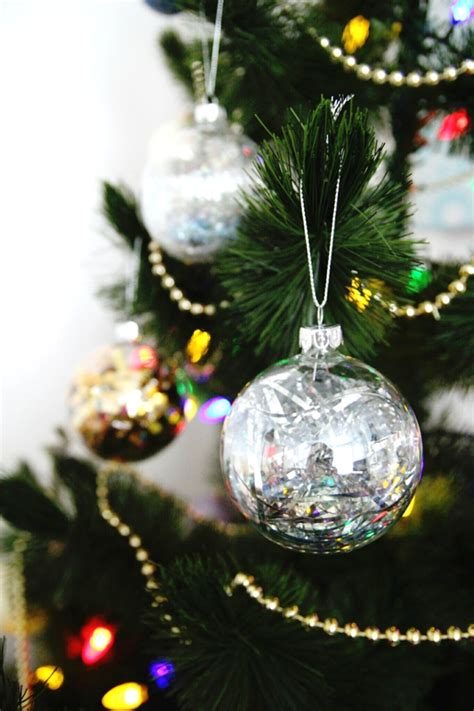 diy sparkle filled christmas baubles gathering beauty