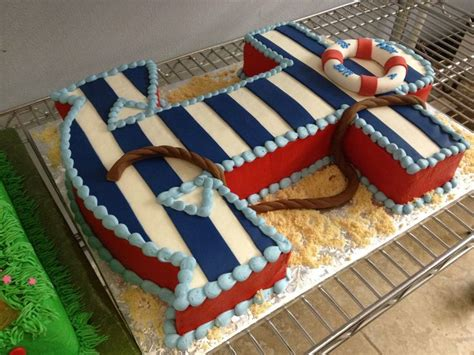 Nautical Themed Striped Anchor Cake From Something Special