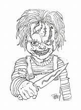 Chucky Maniac Evil Coloring Mosca Arte Cop Template sketch template