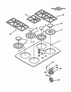 Kitchenaid Kgct305gwh0 Gas Cooktop Parts