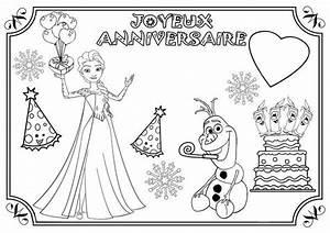 Joyeux Anniversaire Reine Des Neiges : coloriage anniversaire divers ~ Melissatoandfro.com Idées de Décoration