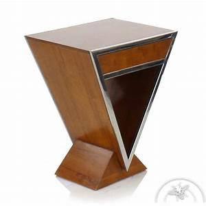 Table De Chevet Bois : table de chevet design bois clair delta saulaie ~ Teatrodelosmanantiales.com Idées de Décoration