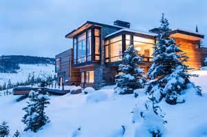 interior design mountain homes modern mountain villa in montana