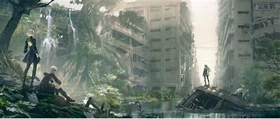 Anime Nier Automata 2b A2 Cityscape 9s