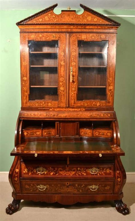 Beautiful Bookcases For Sale by Antique Mahogany Marquetry Bureau Bookcase Circa