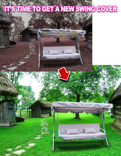 new replacement patio swing chair set canopy cover top ebay