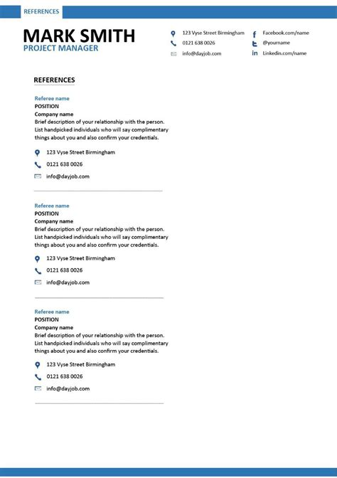 modern project manager resume  templates
