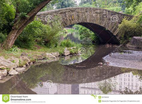 bridge central park new york city stock image