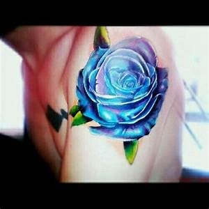 Blue And Purple Roses Tattoo | www.imgkid.com - The Image ...