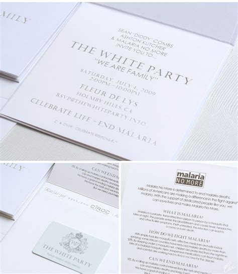 white party invitation cards  images party