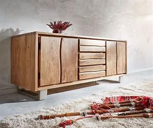 Live Edge Möbel : sideboard live edge 172 cm akazie natur 3 sch be 4 t ren m bel kommoden schr nke sideboards ~ Sanjose-hotels-ca.com Haus und Dekorationen