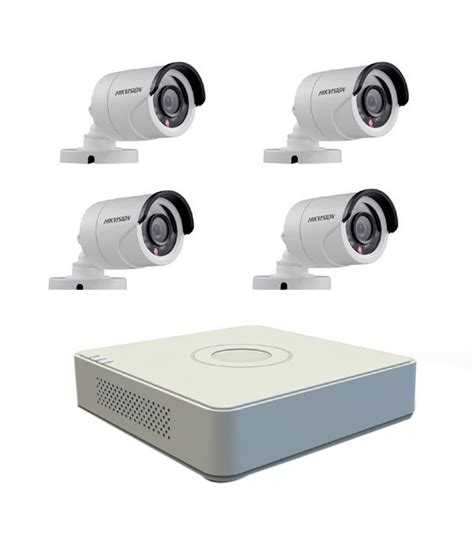hikvision 4 ch dvr 4 bullet ir 600 tvl cctv surveillance system price in india buy