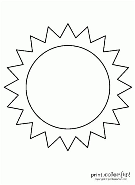 Sun Template 5 Best Images Of Free Printable Sun Sun Coloring Pages
