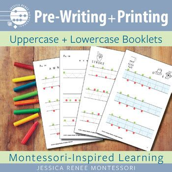 pre writing  printing uppercase lowercase booklets