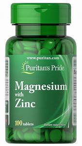 Magnesium With Zinc 100 Tablets