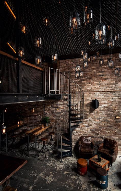 exposed brick wall lighting donny s bar in sydney australia features high ceilings