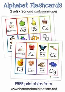 7 best images of alphabet wall cards free printables With letter flashcards for preschoolers