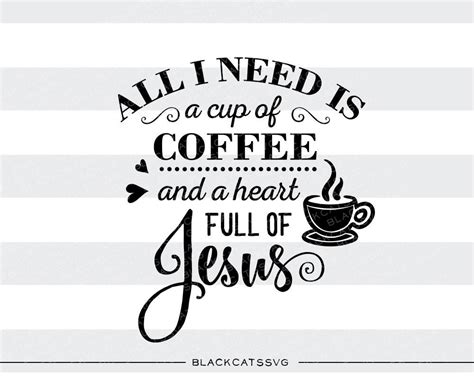 Coffee SVG file Cutting File Clipart in Svg, Eps, Dxf, Png ? BlackCatsSVG