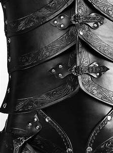 Leather armour set - Elves, black - maskworld com
