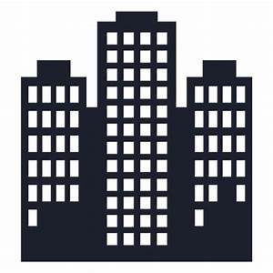 Towers building silhouette - Transparent PNG & SVG vector