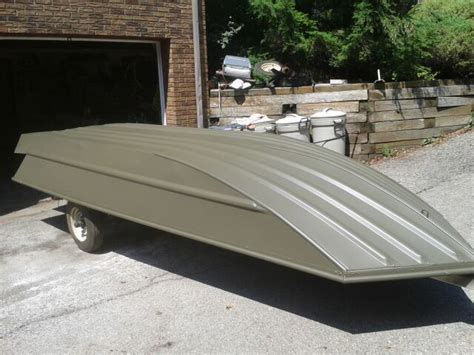 Jon Boat Green Paint by New Boat Blind Build Tracker Grizzly Waterfowl Boats