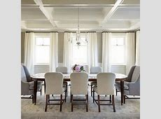 Cream and Brown Dining Room with Brown Bone Inlay Dining
